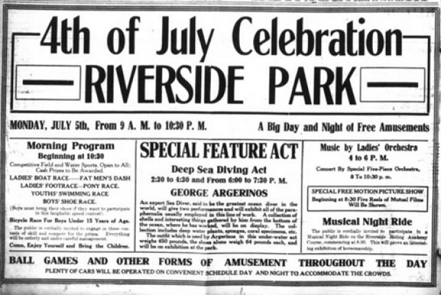 Asheville Citizen, July 4, 1915. Via Jon Elliston, Asheville 1915.
