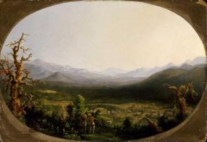 Robert Duncanson, A View of Asheville, North Carolina (1850). Houston Museum of Fine Arts, via Darin J. Waters, Life Beneath The Veneer: The Black Community in Asheville, North Carolina from 1793 to 1900 (PhD diss., UNC Chapel Hill, (2011).