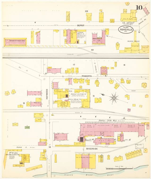 Sanborn Fire Insurance Co. map, 1901. p. 10.