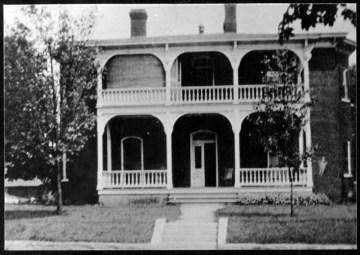 Residence at 48 Grove Street, built ca. 1900. Some features may resemble those of 55 Grove Street house. Special Collections, Pack Memorial Public Library, A487-4.