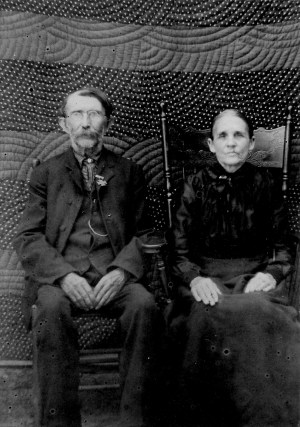 Asbury's parents Jackson P. and Eliza S. Whisnant, about 1900