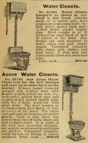 Sears Roebuck catalog (1903). Both the $20.00 and the $30.00 deluxe model featured the pull chain.