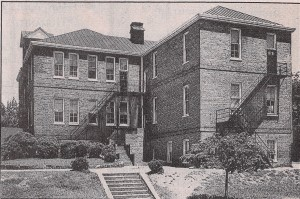 Asheland Avenue (formerly Bailey Street) Graded School, built 1893. Became school for blacks after court case in 1938. Razed 1951. Courtesy of Old Buncombe County Genealogical Society.