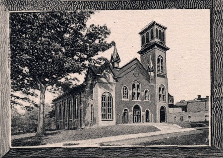 First Baptist Church, ca. 1899. H. Taylor Rogers, Rogers' Asheville. D. H. Ramsey Library, UNCA.