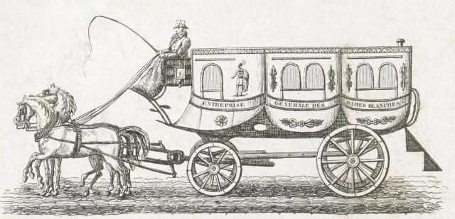 Omnibus, Paris, 1828. State Library of Victoria via Wikipedia.