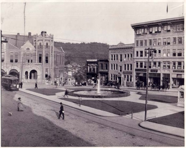Pack Square, 1910. Pack Memorial Public Library