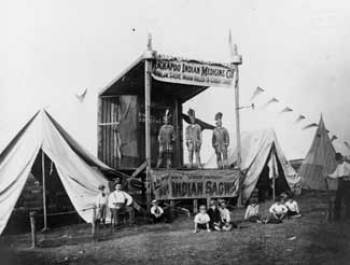 Kickapoo Indian traveling medicine show, Wilmington DE, 1892. Hagley Museum and Library