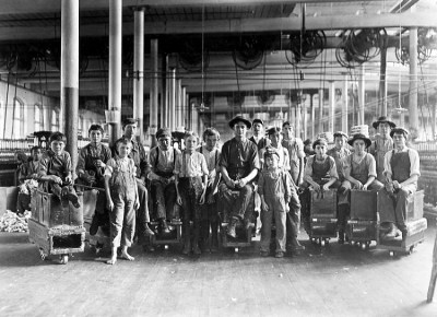 Doffers and sweepers, 1908. Lewis Hine. New York Times