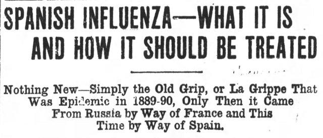 Vick's VapoRub advertisement, Asheville Citizen-Times, October 13, 1918