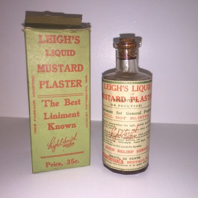 Leigh's Liquid Mustard Plaster (1915) by The Chatauqua Co. eBay, March 4, 2016.