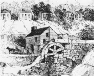 Schenck-Warlick Cotton Mill, 1814-1816. NCpedia.
