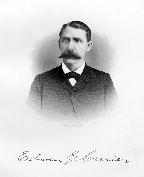 Edwin G. Carrier, ca. 1885. Engraving by F. G. Kernan.