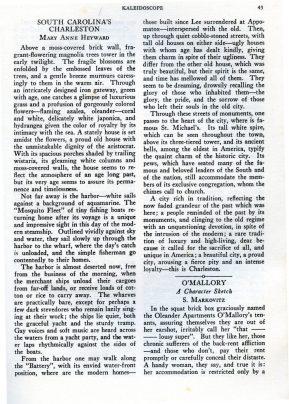SC's Charleston piece in Bluet, Jan. 1935