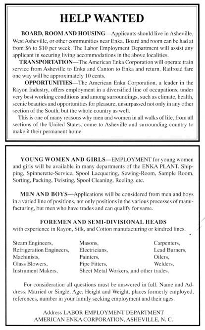 Enka job ad