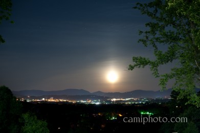 Moonscape over downtown Asheville