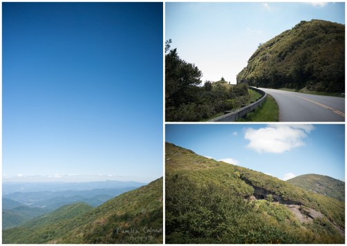 The Blue Ridge Parkway taken from the Visitor Center at Craggy Gardens.