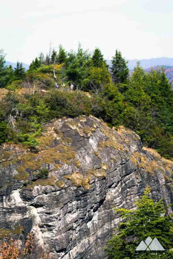 Devils Courthouse at Whiteside Mountain in Highlands, NC