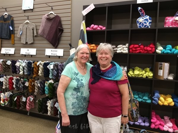shop hopping with Mom at yarnology