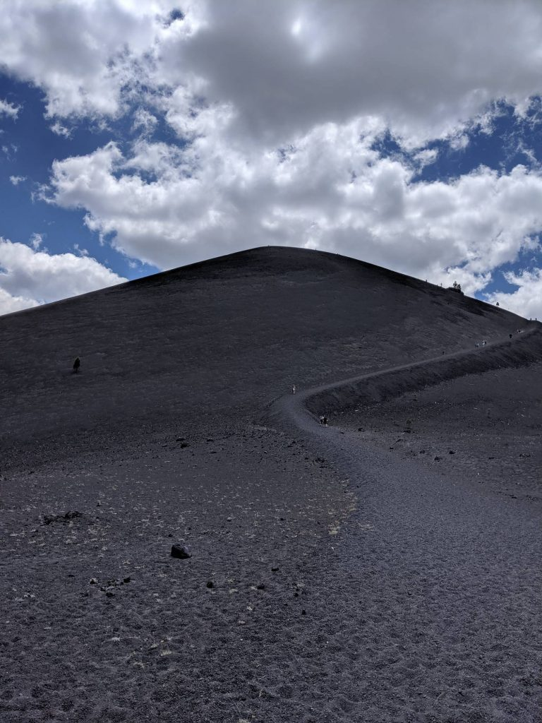Cinder Cone seen from the bottom