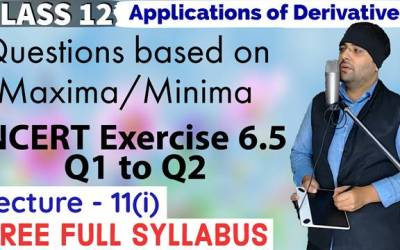 Exercise 6.5 (Q1 to Q2) Application of Derivatives Class 12 Maths Chapter 6
