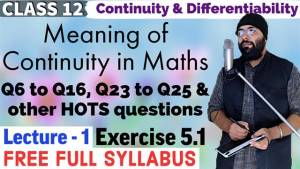 Continuity and Differentiability Lecture 1