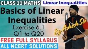 Linear Inequalities Lecture 1