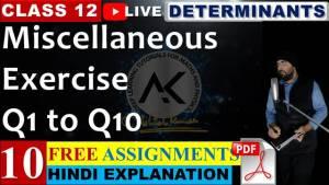 Determinants Lecture 10