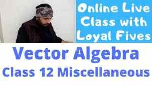 Vector Algebra Lecture 8 640 x 360