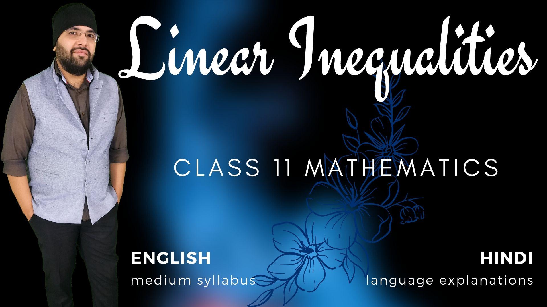 Linear Inequalities Class 11 Maths
