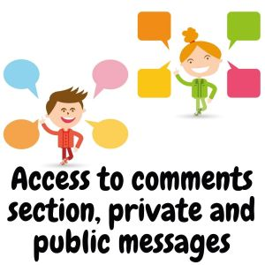 Access to comments and messages