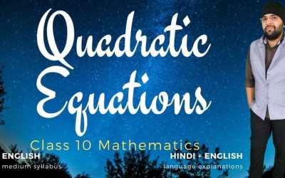 Ch04. Quadratic Equations – 1Y