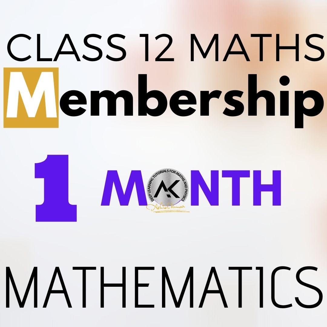 Class 12 Maths 1 Month
