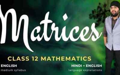 Ch03. Matrices Class 12 Maths – 90D