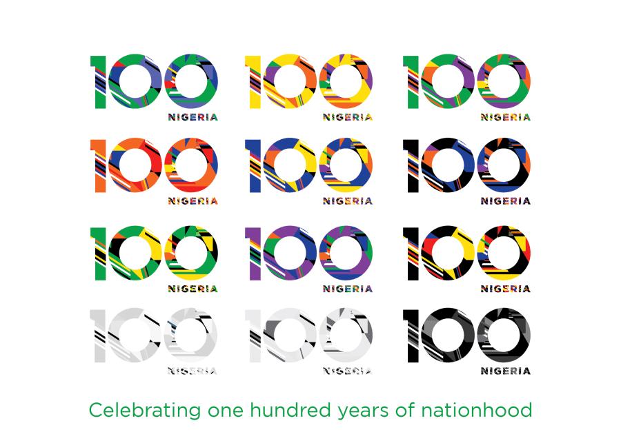 Nigeria at 100 alternate logos