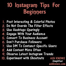 10 Instagram Tips for Beginners - ASH KNOWS