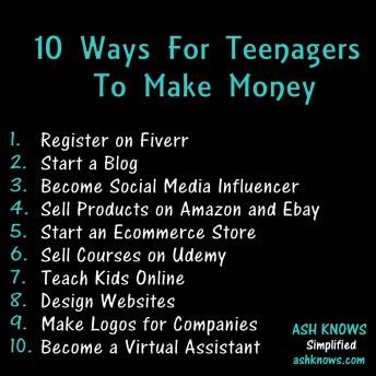 10 Ways to Make Money - ASH KNOWS