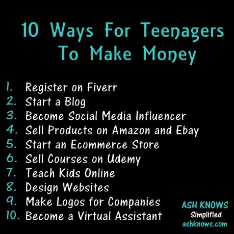 10 Ways to Make Money - ASH KNOWS