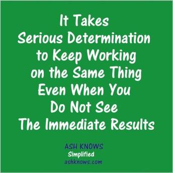 Determination - ASH KNOWS
