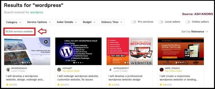 WordPress Development Fiverr - ASH KNOWS