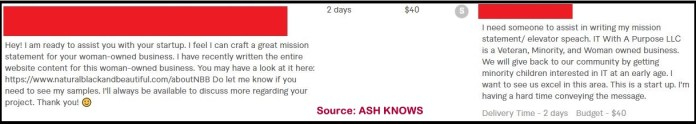 Fiverr Buyer Request Example 2 - ASH KNOWS