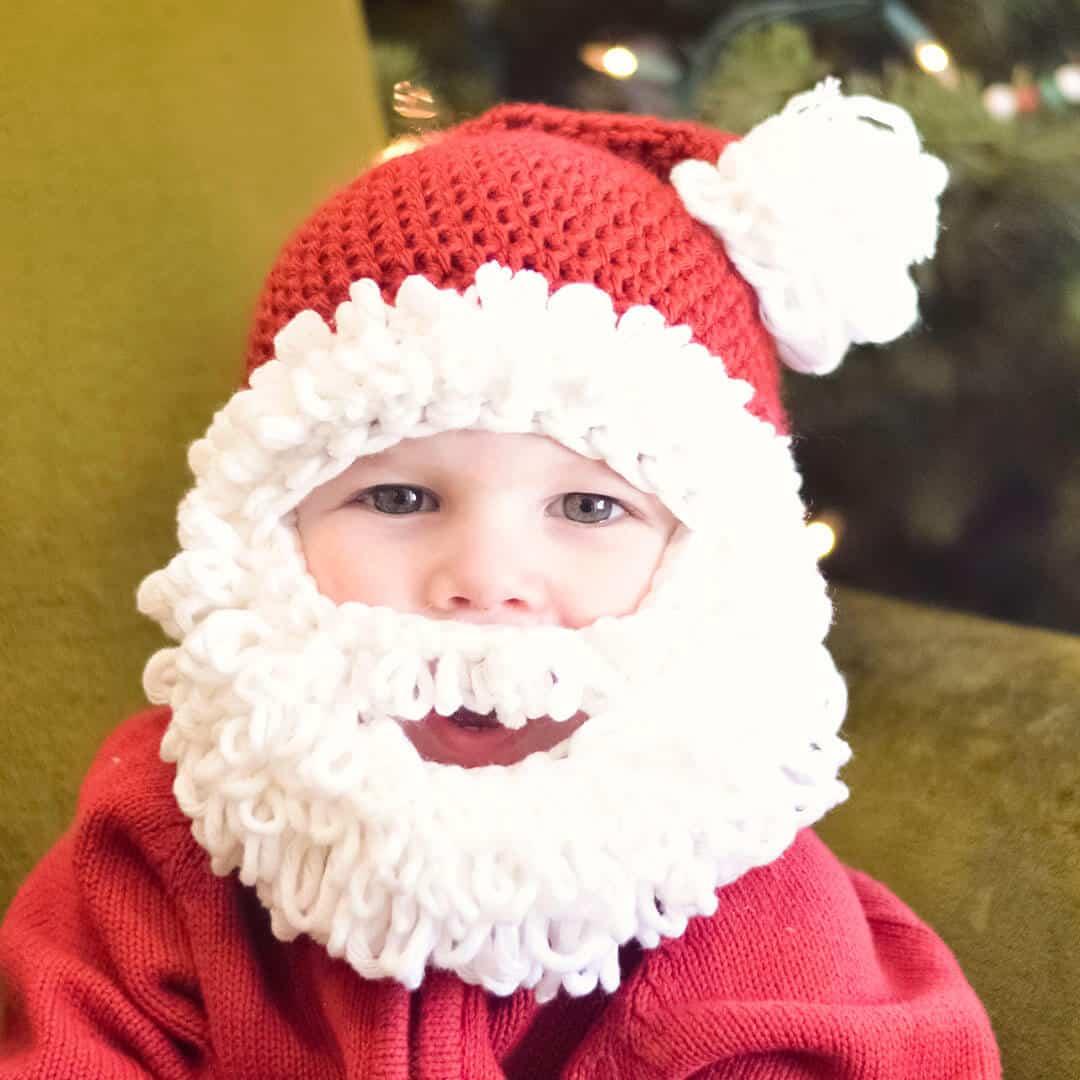 Double Loop Crochet Santa Beanie Pattern Infant To Adult
