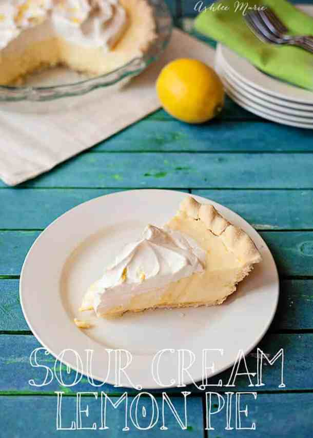 This sour cream lemon pie is my go-to pie. EVERYONE loves it and the recipe turns out perfect every time