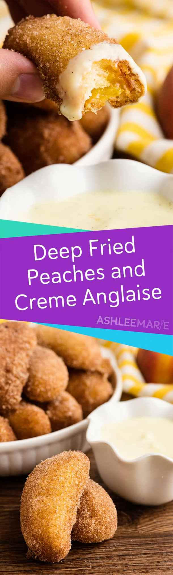 deep fried peaches and creme anglaise recipe and video