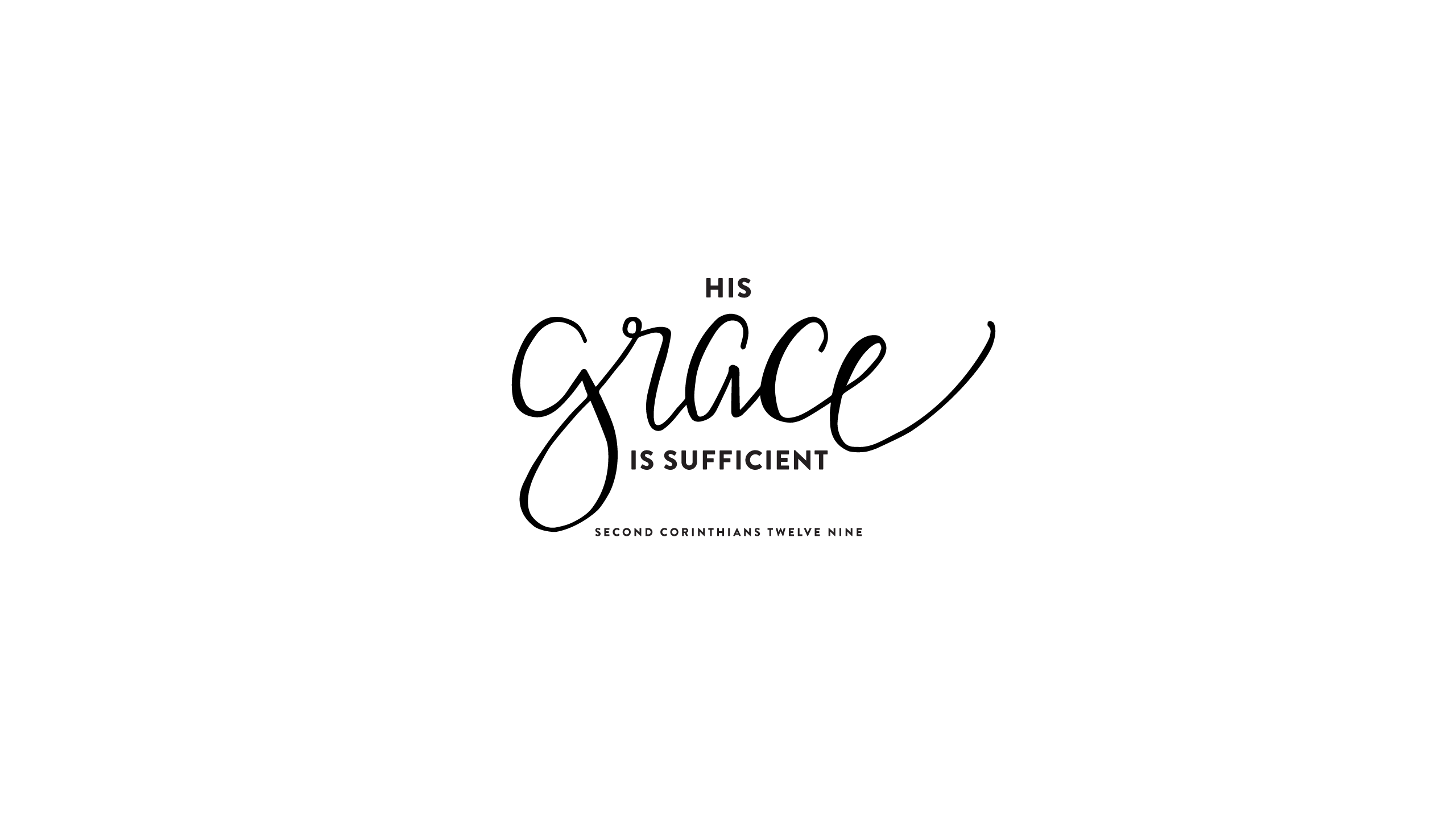 Grace Sufficient Scripture Wallpaper