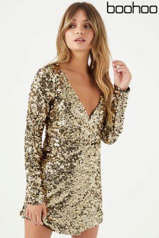 Bohoo Gold Dress