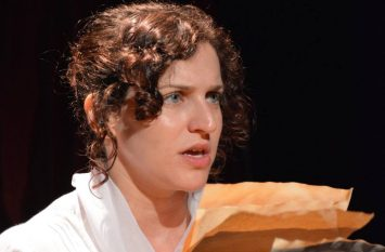 "Ashleigh as Mary Wollstonecraft in ""Mary, Mary"" at the Camden Fringe 2016"