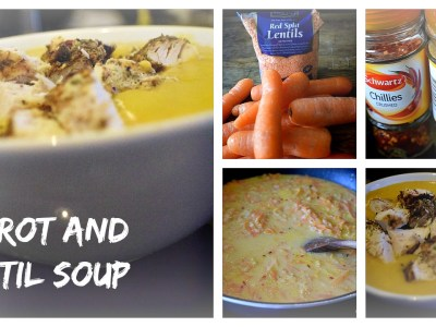 Carrot and Lentil Soup ashleighsworld.com