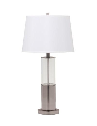 ガラスのテーブルランプ