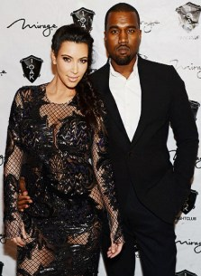 Kanye and Kim West