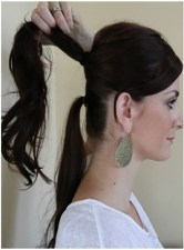 Dreaming of longer locks? Try this trick by creating 2 ponytails, using more hair on the top ponytail so it covers the ponytail below. Looks more natural with a bit of wave to your hair, may need to use a curling iron if you have naturally straight hair.